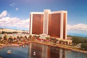 Rending of the future Wynn casino in Everett, MA