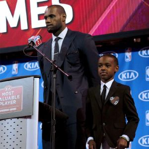 LeBron James and son