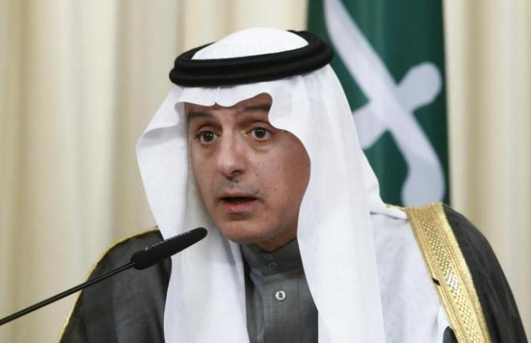 Saudi Foreign Minister Adel al-Jubeir attends a news conference in Moscow